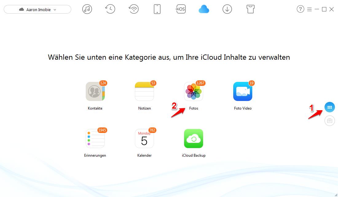 iCloud mehrere Fotos auawählen – Schritt 3