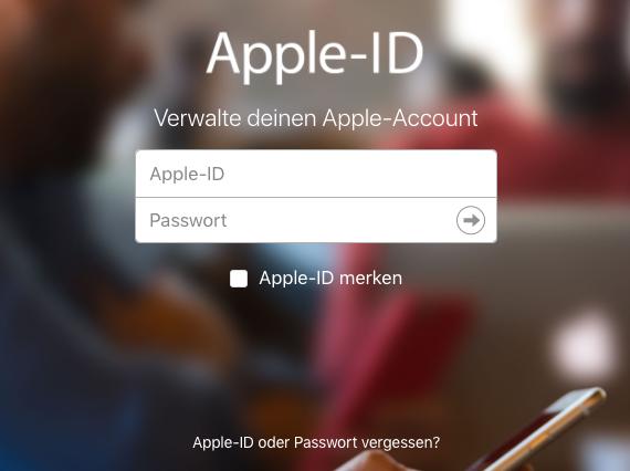 iCloud Passwort zurückstzen