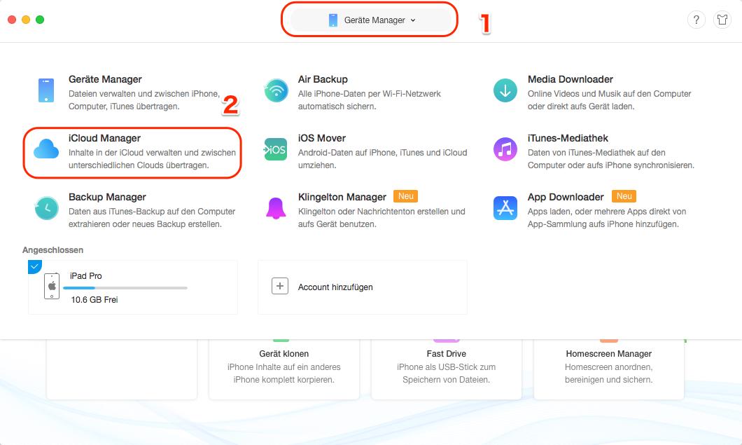 iCloud Backup auf neues iPhone übertragen