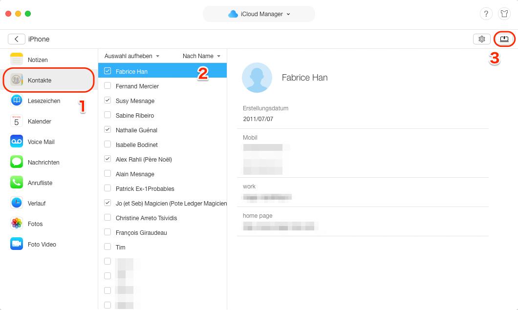 iCloud Backup auf neues iPhone X/8/7 übertragen - auf PC downloaden
