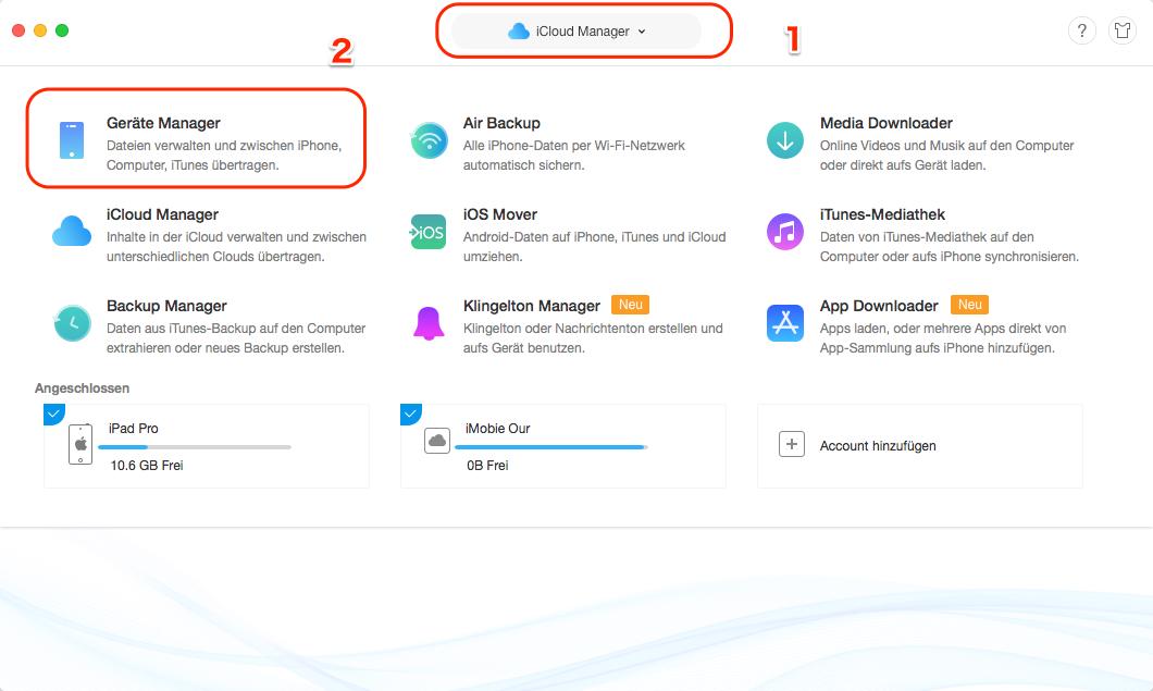 iCloud Backup auf neues iPhone übertragen - Schritt 1