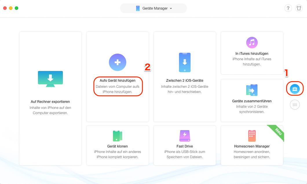 iCloud Backup auf iPhone laden - Schritt 2