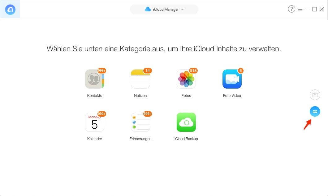 iCloud Backup nach Dateitypen laden – Schritt 3