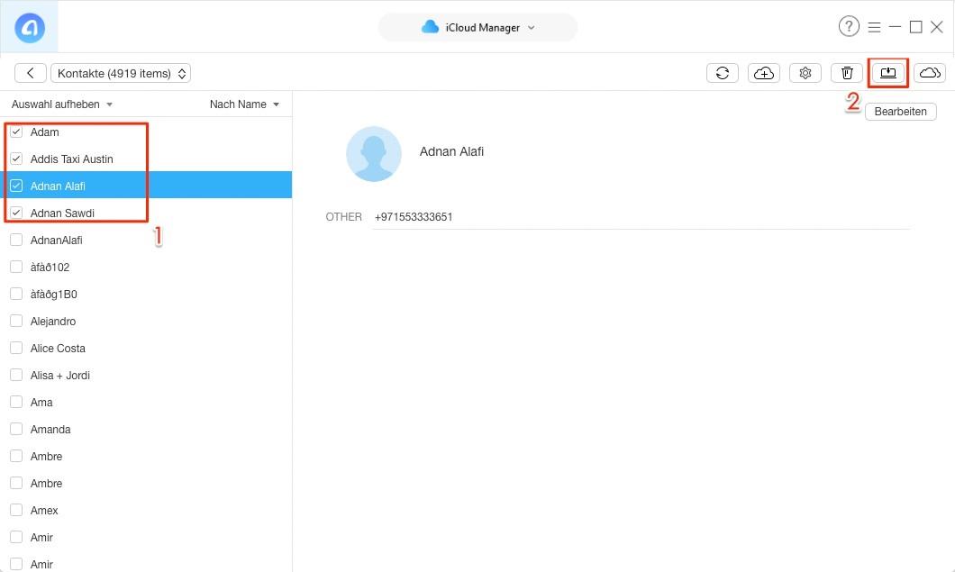 Selektiv! iCloud Daten laden – Schritt 4