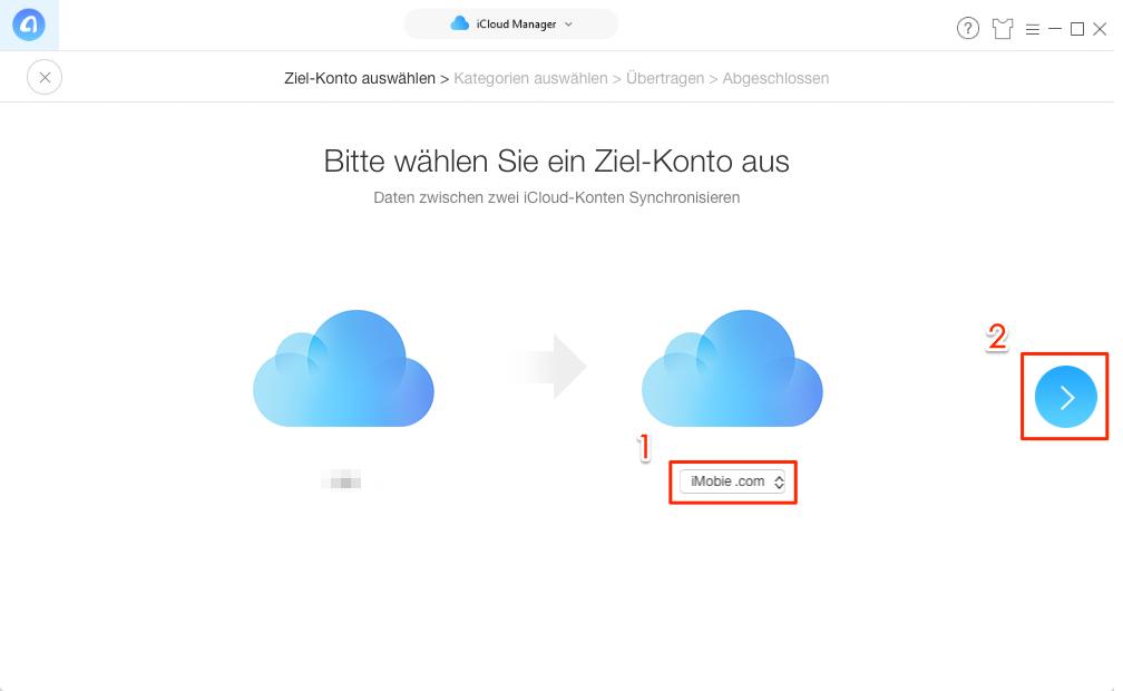 AnyTrans öffnen und iCloud Account anmelden – Schritt 1