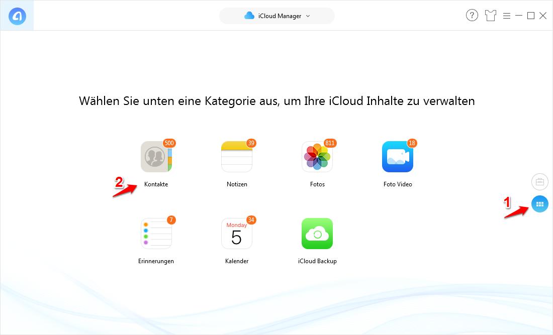 iCloud Daten auf anderen Account übertragen – Schritt 3