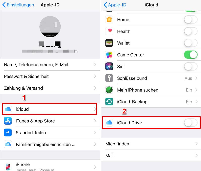 Wie kann man iCloud Drive deaktivieren