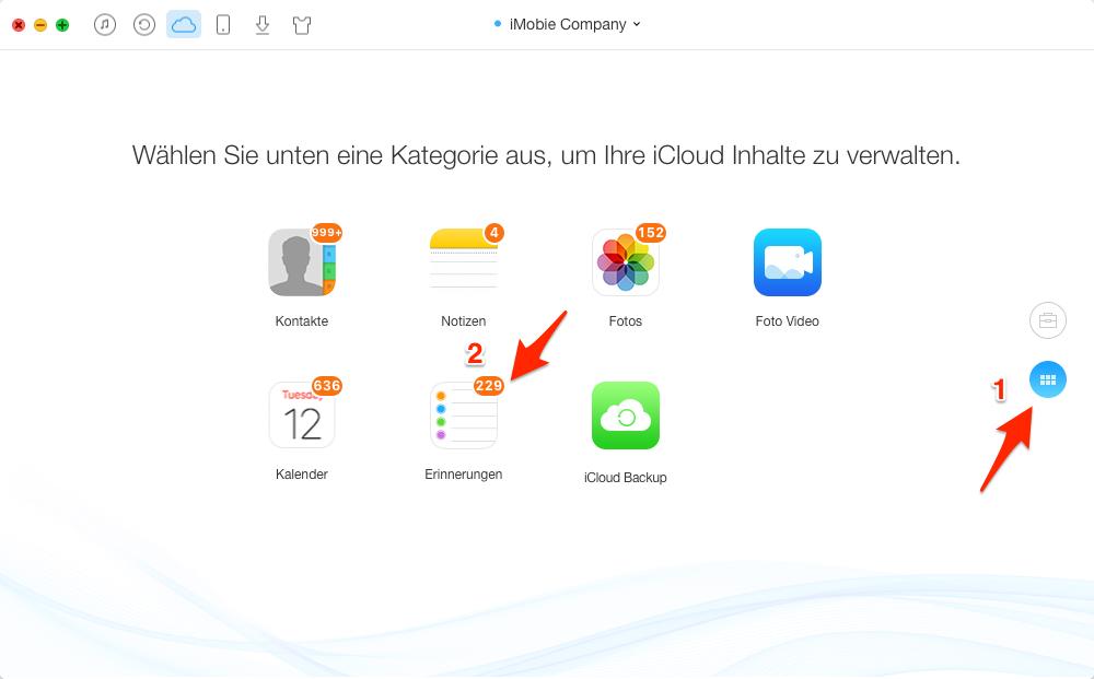iCloud Erinnerungen mit AnyTrans freigeben – Schritt 4