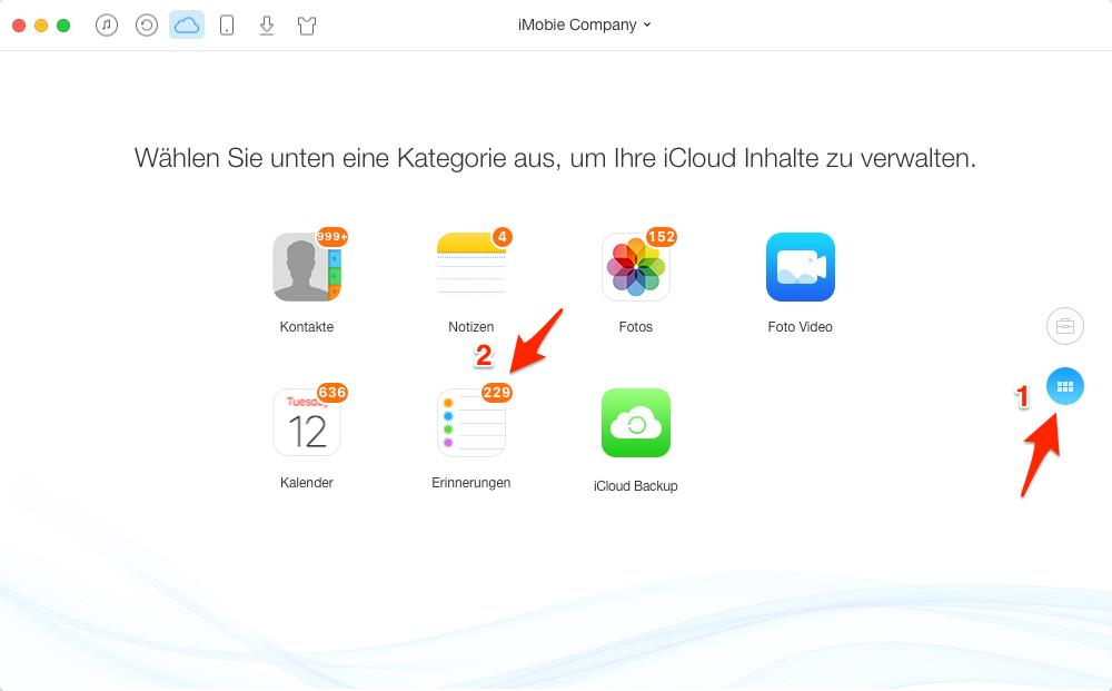 iCloud Erinnerung löschen - Schritt 3