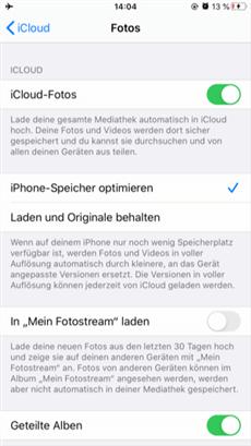 iCloud-Fotos aktivieren am iPhone