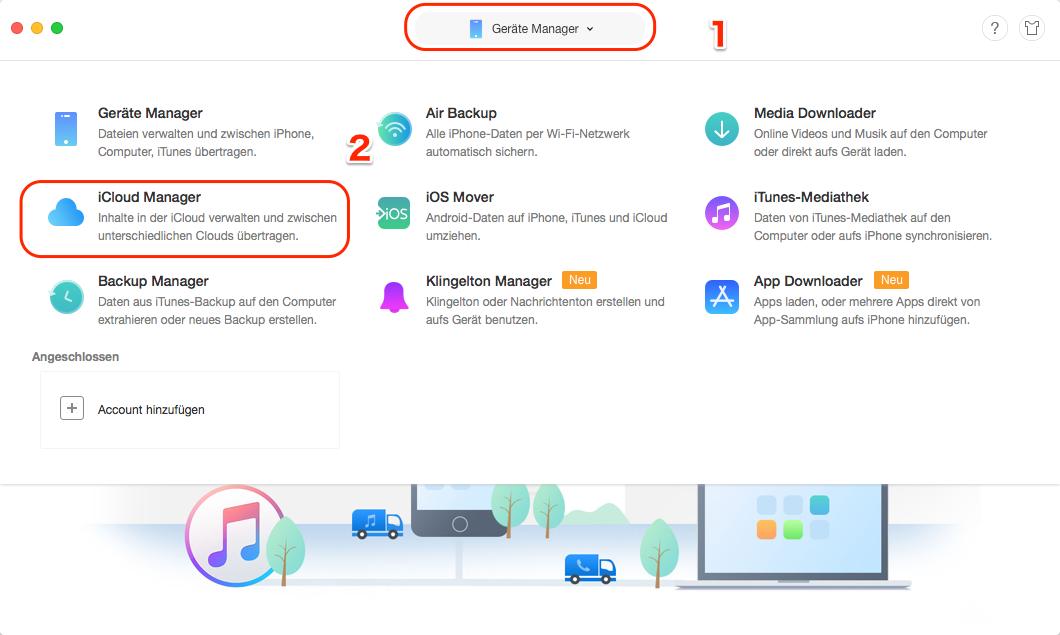 iCloud Fotos auf externe Festplatte speichern - Schritt 1