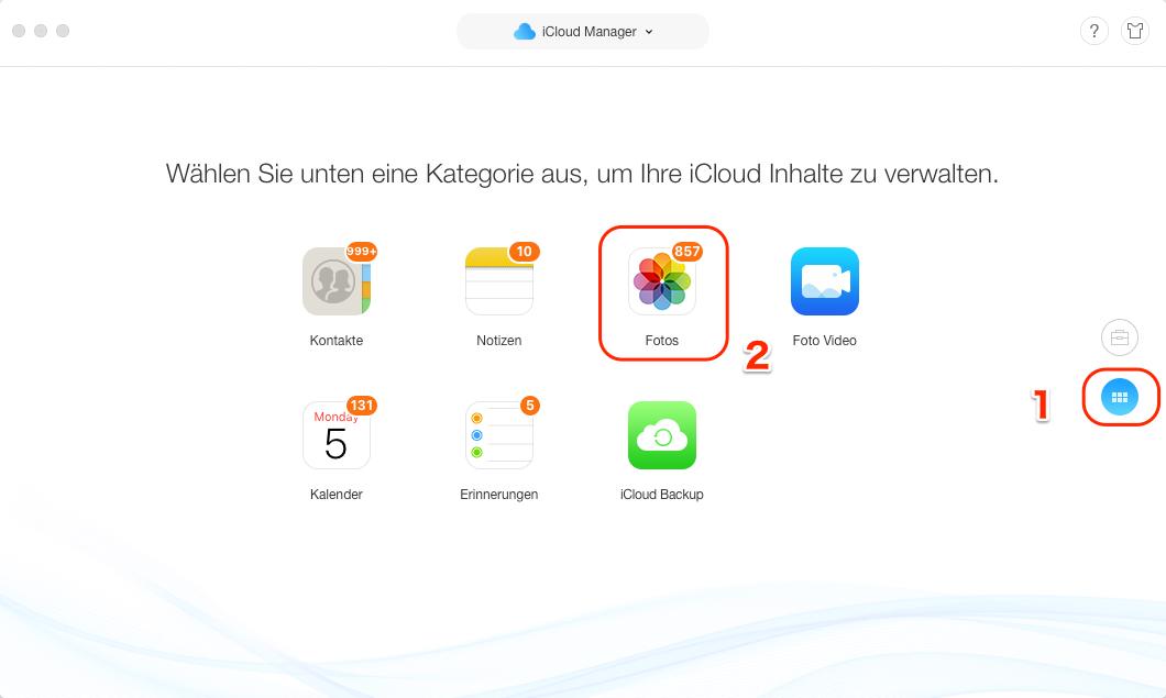 Fotos von iCloud auf externe Festplatte übertragen - Schritt 3