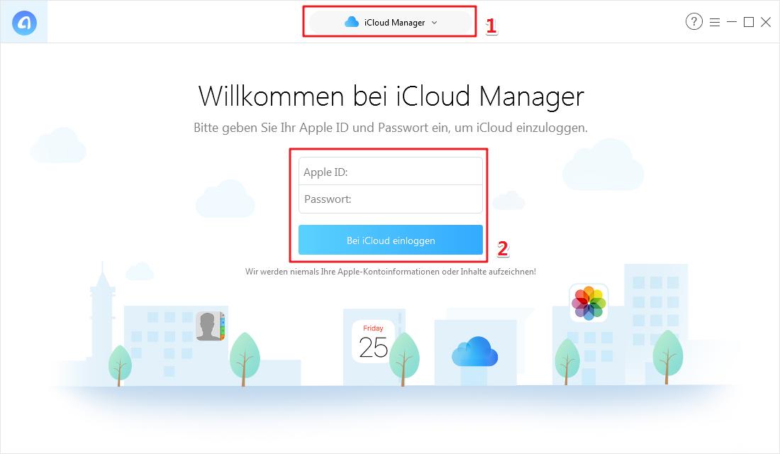 iCloud Fotos herunterladen Windows 10/8/7 - Schritt 1