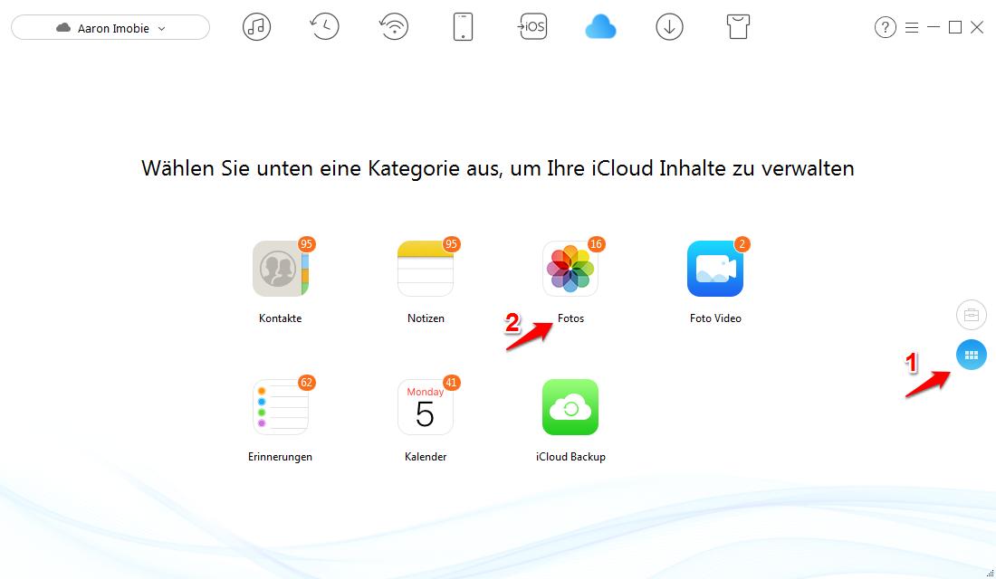 iCloud Fotos synchronisiert nicht und was tun – Schritt 2