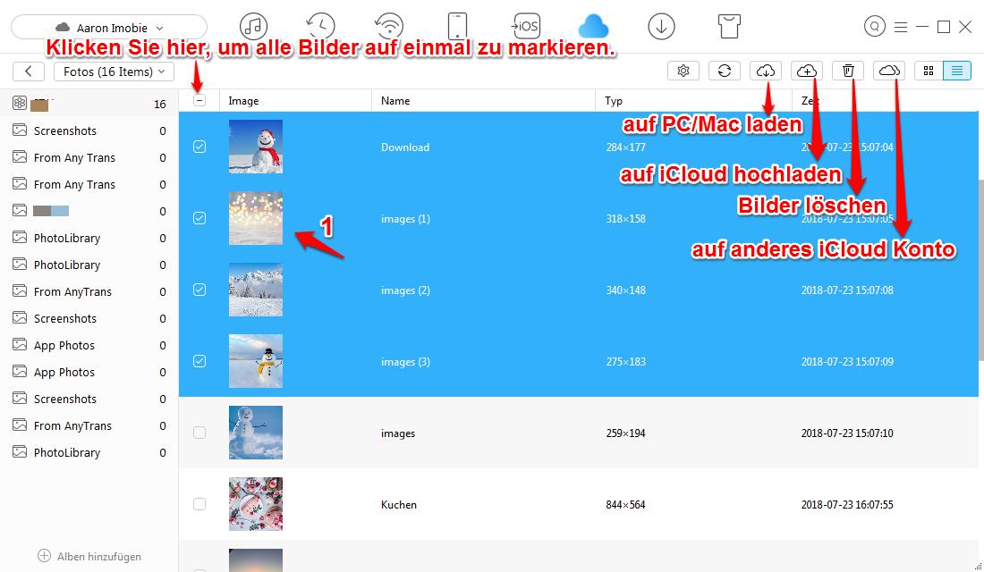 iCloud Fotos synchronisiert nicht und was tun – Schritt 3