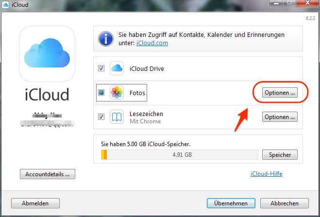 iCloud Fotos werden nicht angezeigt - Methode 1