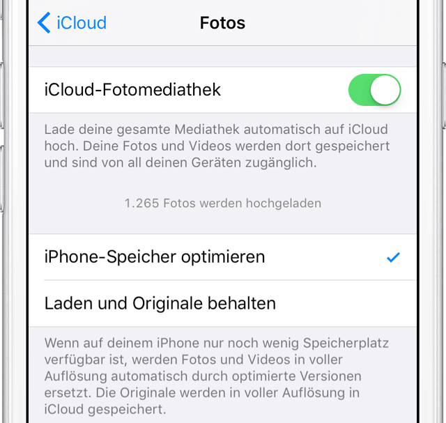 Fotos in iCloud nicht sichtbar - Methode 2