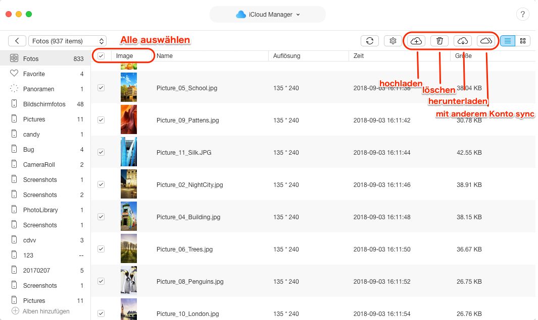 Fotos in iCloud werden nicht angezeigt - iCloud Fotos verwalten