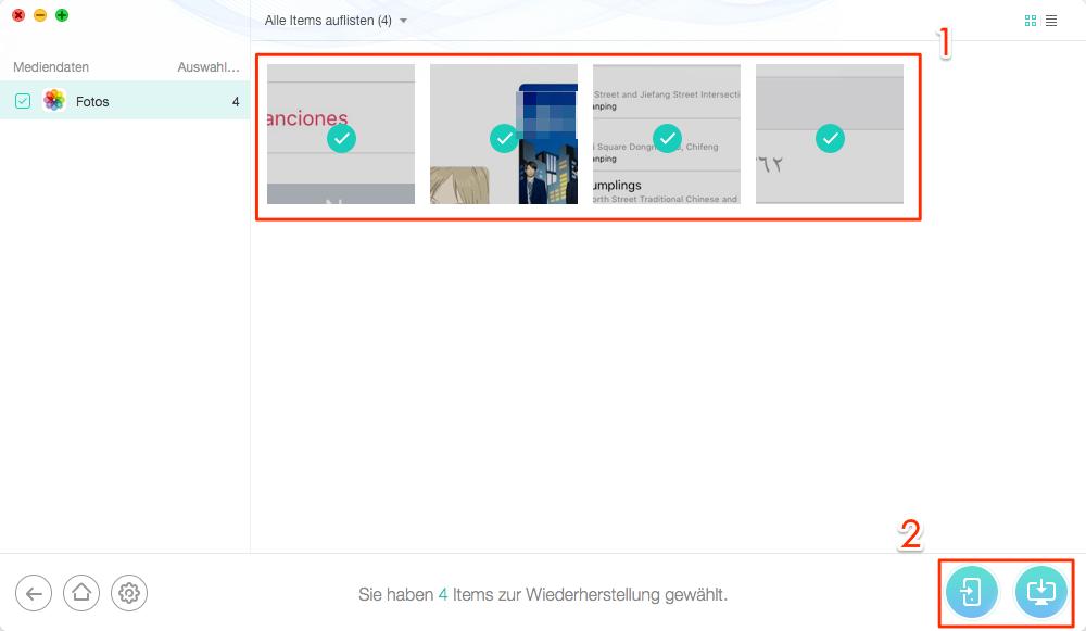 iCloud Fotos zurück auf iPhone wiederherstellen - Schritt 5