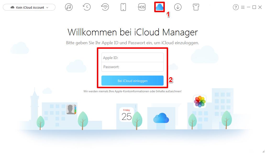 iCloud Kalender teilen - Schritt 1