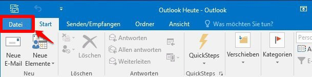 Kontakte in Outlook übertragen