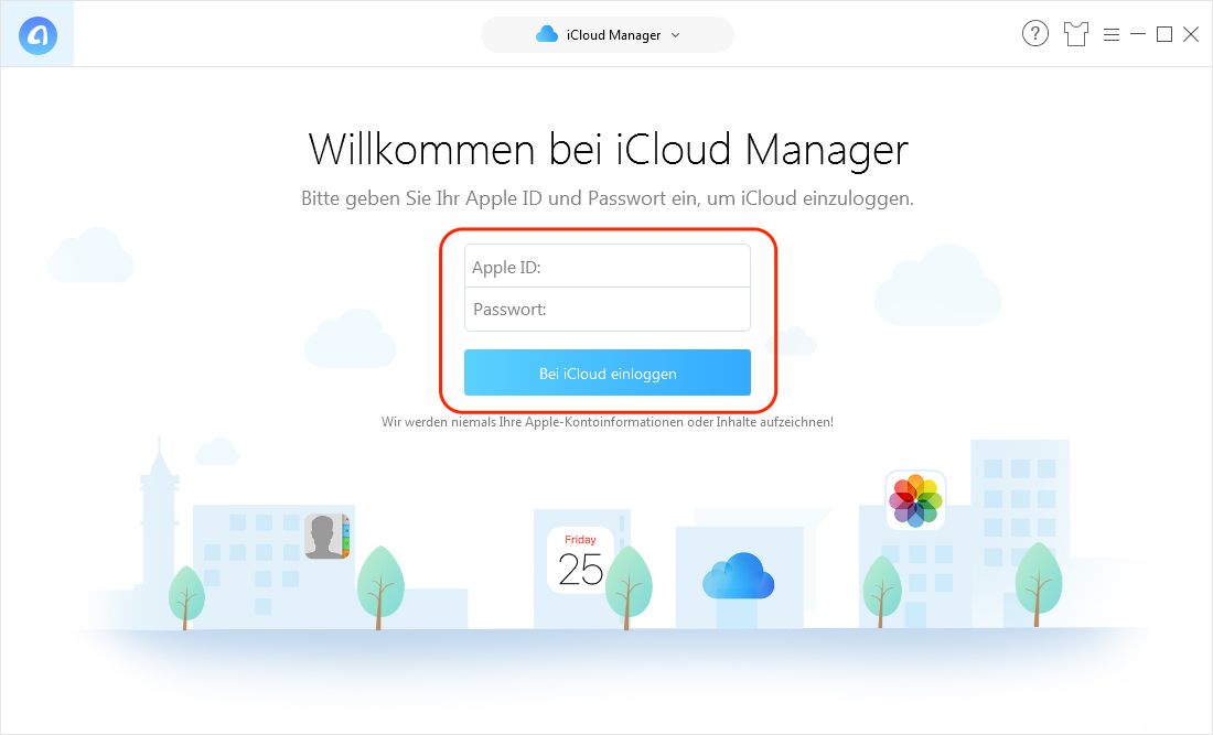 Kontakte aus iCloud wiederherstellen - Schritt 2