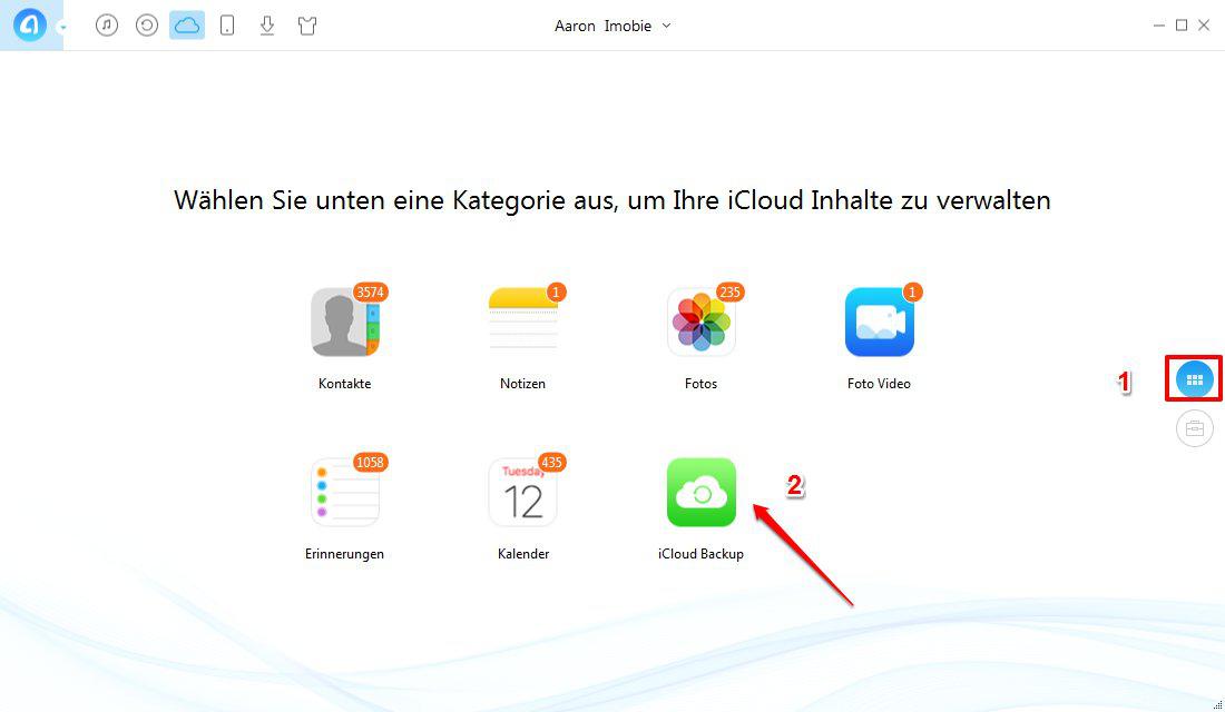 iCloud Nachriten lesen – iCloud Inhalte zugreifen – Schritt 2
