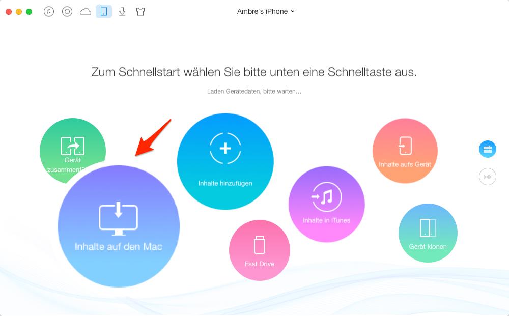 Daten von iOS-Gerät auf PC sicher – mit AnyTrans