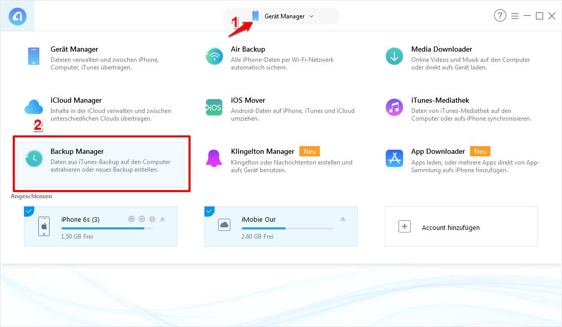 iCloud Speicher leeren –iCloud Backup löschen