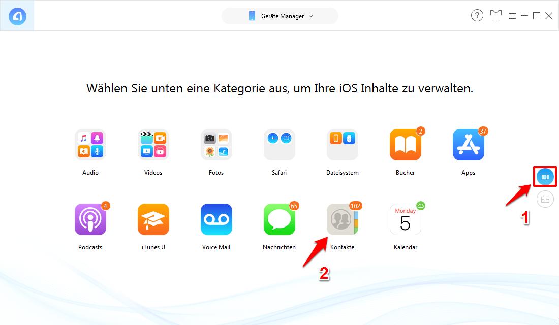 iCloud synchronisiert Kontakte nicht – AnyTrans verwenden