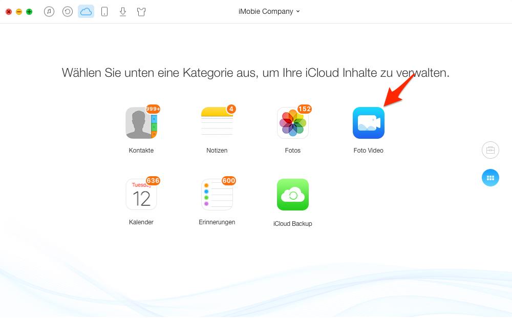 Videos von iCloud löschen - Schritt 2