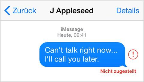 iMessage Probleme: SMS nicht zugestellt