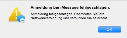 iMessage Probleme: iMessage Anmeldung fehlgeschlagen