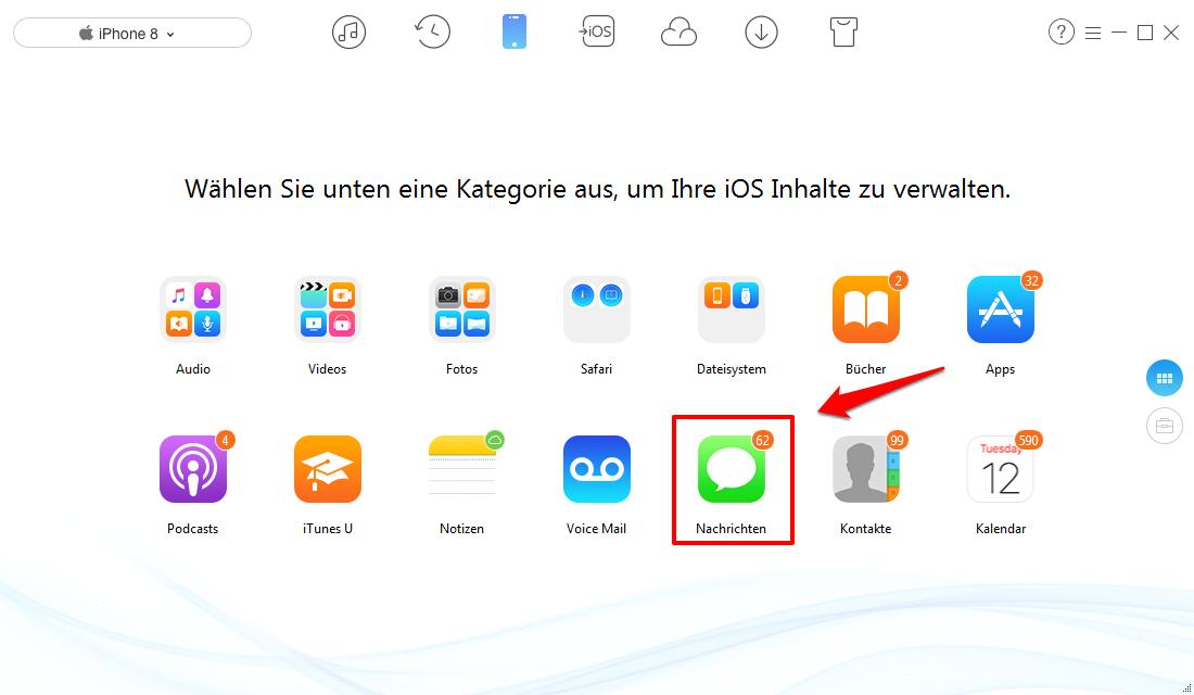 iOS 11 iMessage Probleme: Beste Übertragungstool – AnyTrans