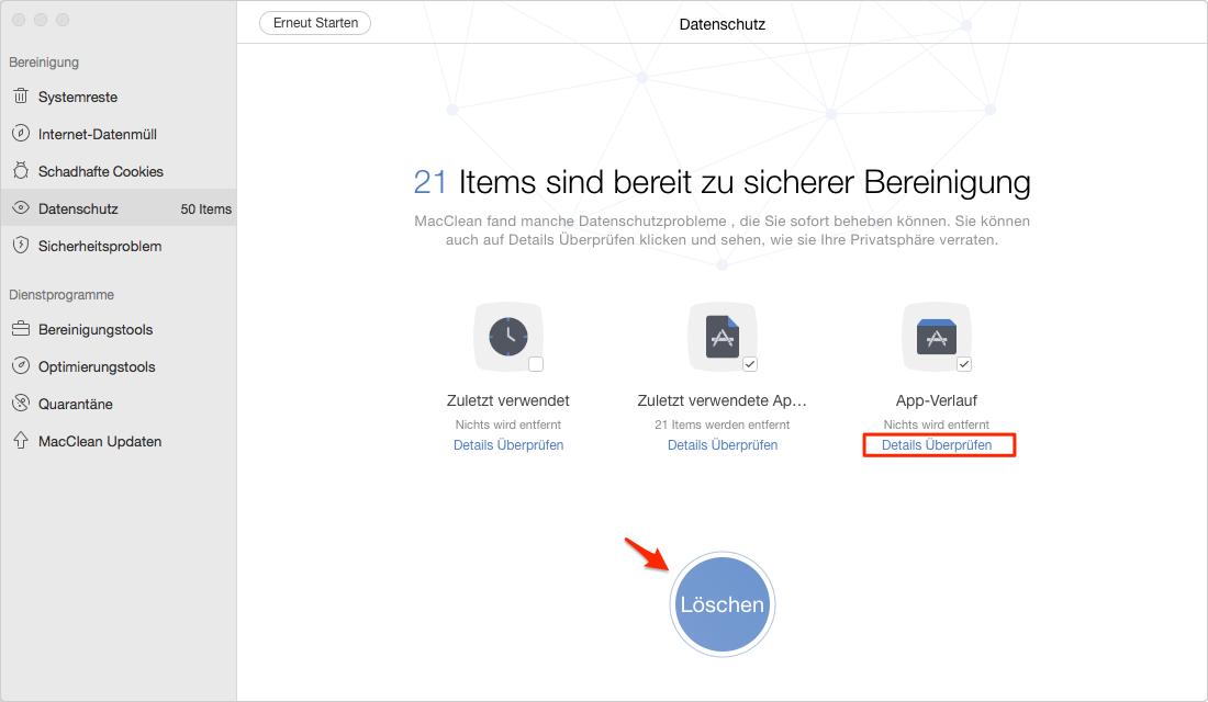 Sicher! Message vom Mac sicher löschen - Schritt 3