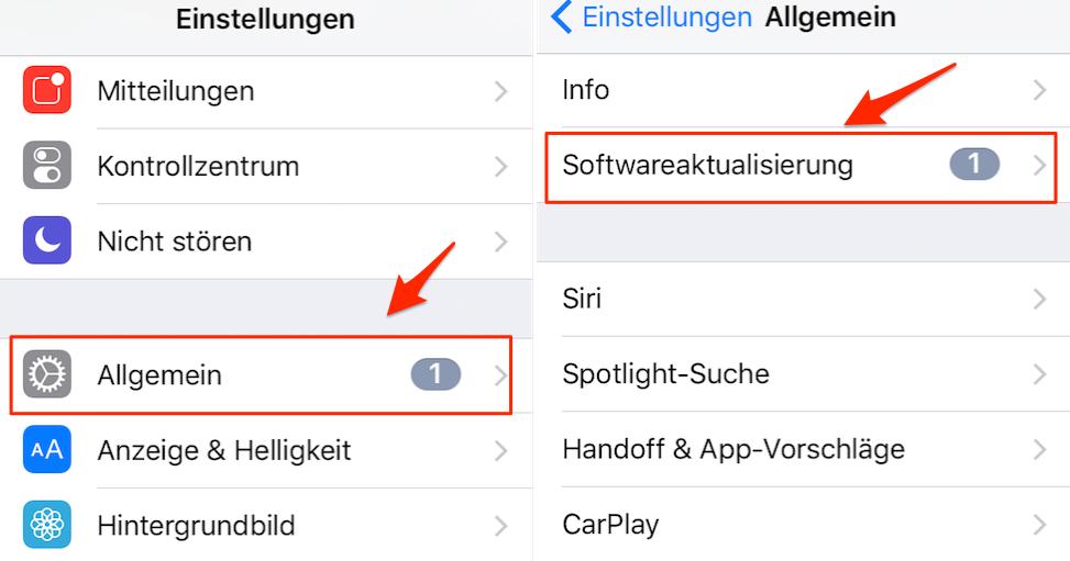 iOS 11 Download und installieren