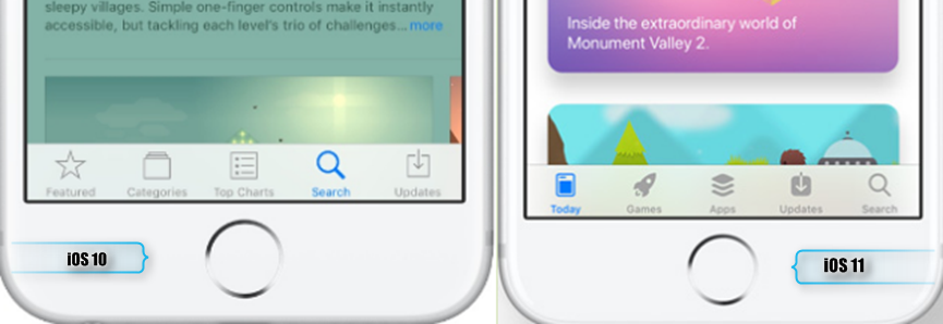 iOS 11 App Store – Neue Nevigation Tabs