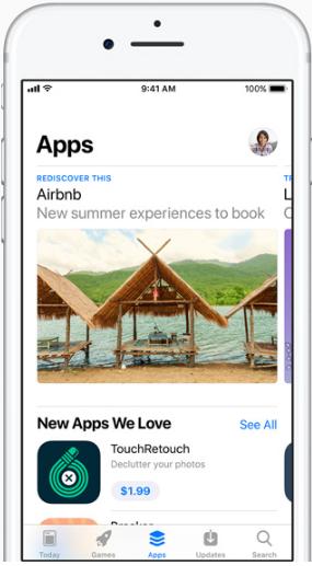 """iOS 11 App Store – """"Apps"""" Tab"""