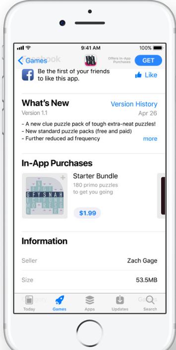 iOS 11 App Store - In-App-Käufe