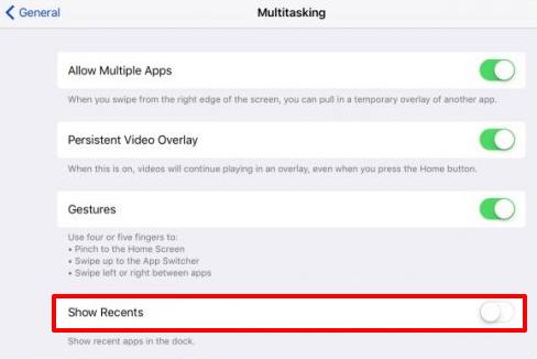 iOS 11/11.1 Dock anpassen - Letzte Apps deaktivieren