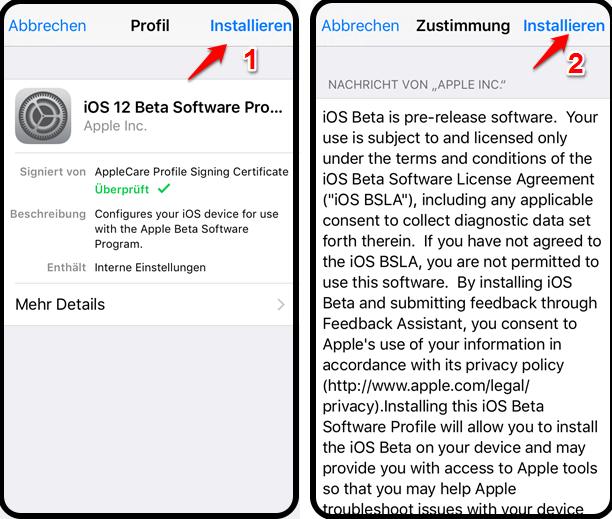 iOS 12.1 Installieren – Schritt 3