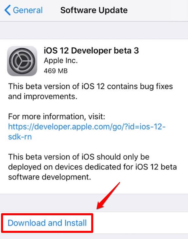 iOS 12.1 auf iPad downloaden – Schritt 5