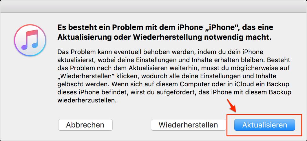 Downgrade von iOS 12 auf iOS 11 – Schritt 5