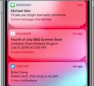 iOS 12 neue Funktionen – Gruppierte Benachrichtigungen