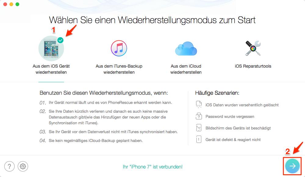 iPhone Fotos weg - Ohne Backup wiederherstellen