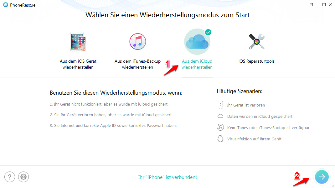 iOS 12: iPhone Notizen wiederherstellen – Mit iCloud Backup