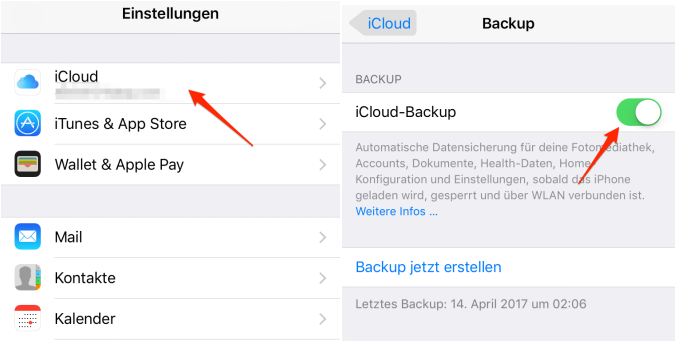 iOS 12 unterstützte Geräte - iPhone Backup mit iCloud erstellen