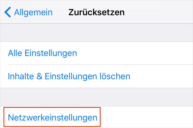 iPhone WLAN grau hinterlegen und die Lösung - Schritt 3