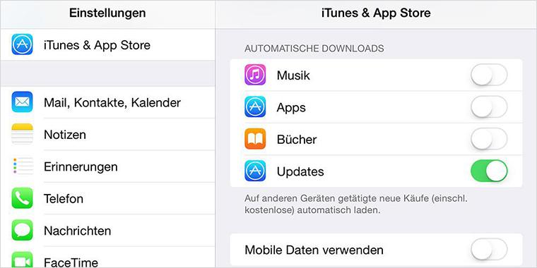 Automatische Downloads deaktivieren