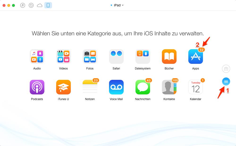 Apps in iTunes sichern – Schritt 3